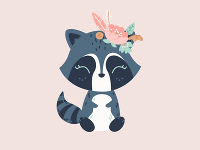 Bohemian Friends Raccoon