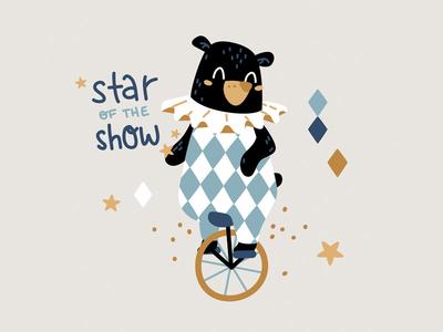 Circus bear bears bicycle kids children funny stars adorable animal circus bear