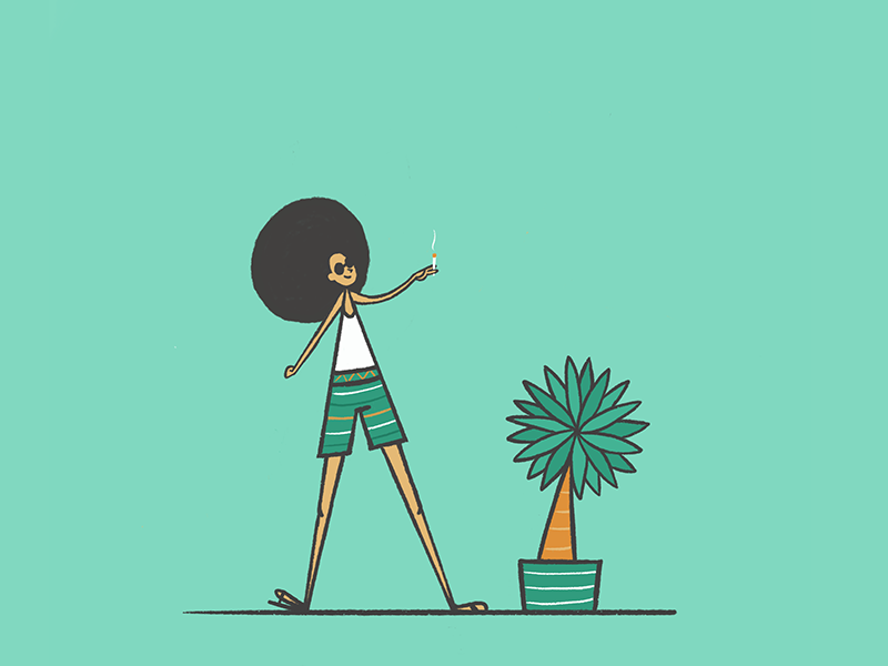 Like owner like...plant! illustration plant palmtree likeownerlikedog procreate ipadproart charactedesign charachter
