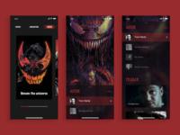 """Venom"" page design"