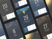 Weather page black
