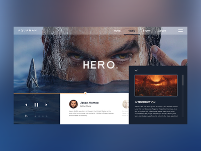 Aquaman video web design