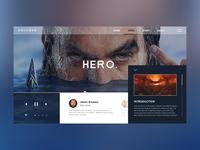 Aquaman video web design