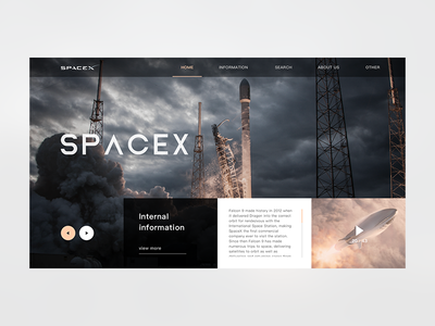 SpaceX web home page design