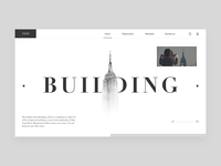 Building web home page design