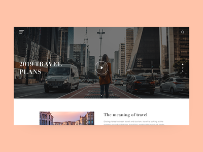Travel web home page design