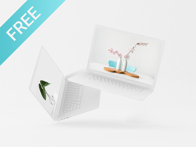 Free MacBook Pro Mockup freebie download apple psd fancy screen floating macbook free mockup