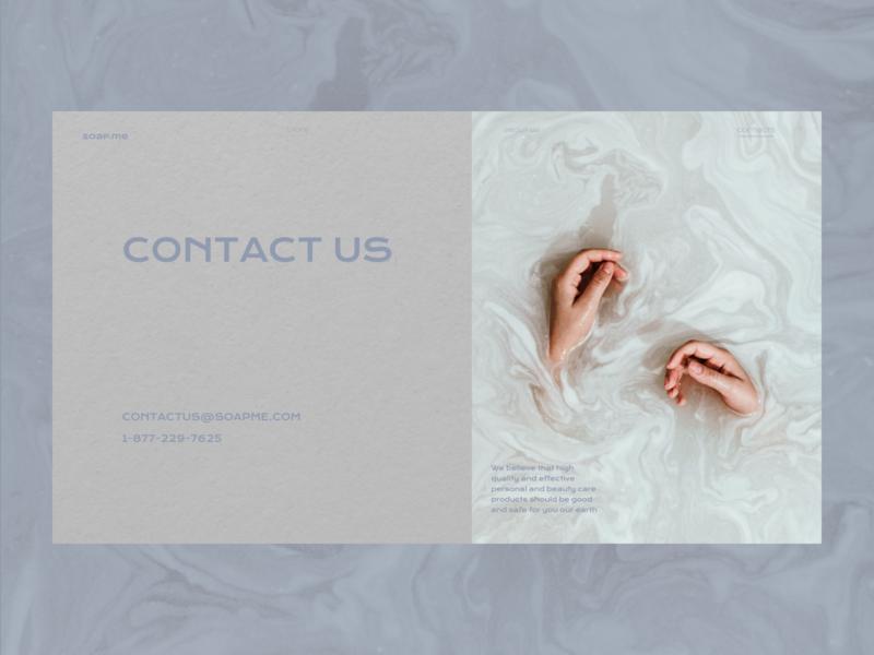 Soap me / Contact us online store online shop ui design uidesign soap e-commerce ecommerce eco-friendly shop contact us contacts