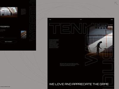 T.W / About page concept minimalistic ecommerce web design tennis shop e-commerce about page about about us