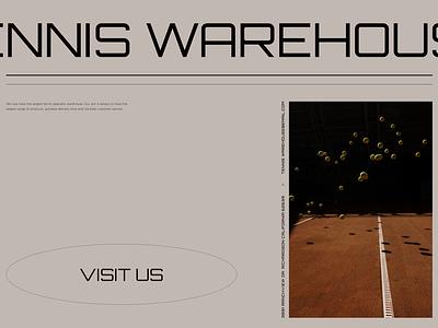T.W banner minimalistic shop e-commerce banner design visit marketing tennis banner