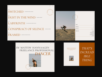 MH / Dancer Portfolio minimal portfolio personal website artist dancer