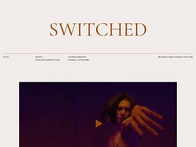 MH / Performance interaction design video interaction landing page landing dancer dance artist