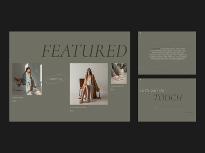LOUNGEWEAR / landing ui design online shop e-commerce website e-commerce design e-commerce shop minimalistic trendy clothing brand clothes homewear homepage landing