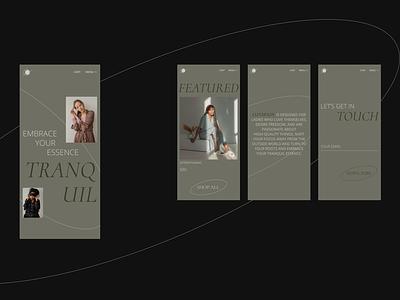 LOUNGEWEAR / mobile clothes store trendy minimalistic online store shop e-comerce mobile site mobile version mobile