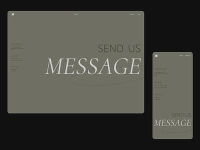 LOUNGEWEAR / Contacts message interface ui ui deisgn ui design contact page contact us contact