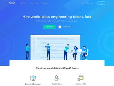 Website for hiring platform