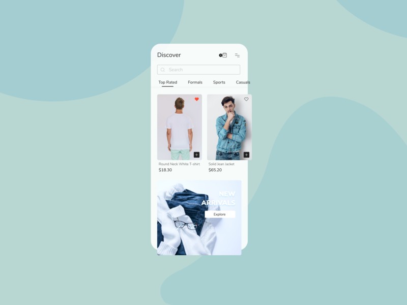 Fashion Store - Mobile App figma fashion app mobile ui home screen app design app