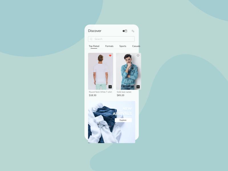 Fashion Store - Mobile App figma fashion app mobile ui home screen app design app