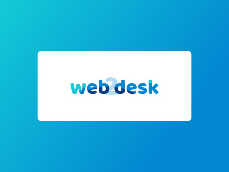 web2desk - Logo branding design illustrator logo
