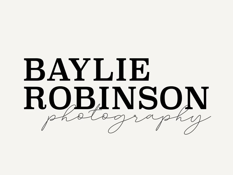 Bailey Robinson Photography Logo icon typography type minimal logo lettering illustrator illustration identity design clean branding art