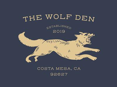 THE WOLF DEN minimal logo lettering illustrator illustration identity design clean branding art