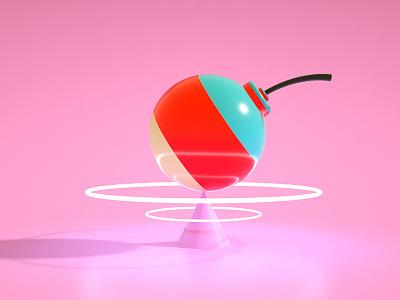 Lollipop Bomb spin octane bomb lolipop pink design cinema4d comicconportugal comiccon