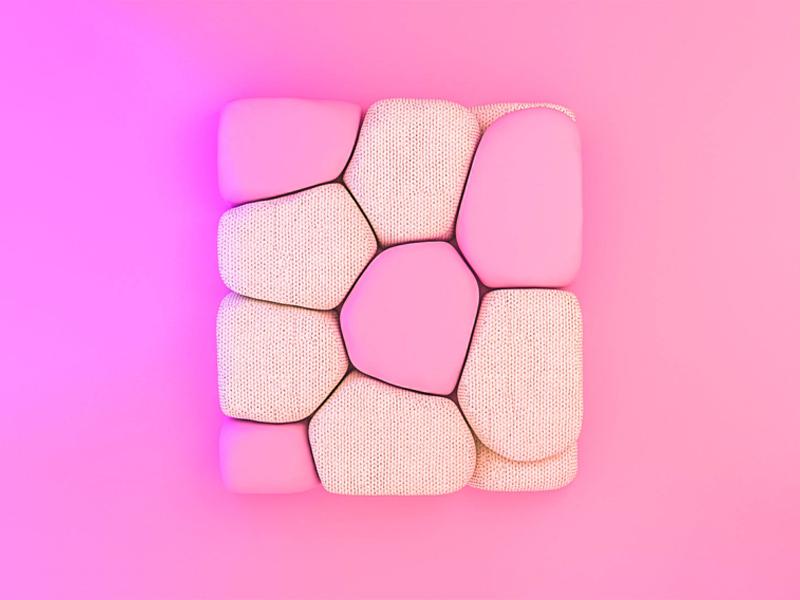 Cube of kindness muzli cloth sphere designer illustration animation c4d render 3d cinema4d