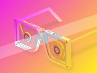 SUNGLASSETTES | 3D Model for Festival Poster