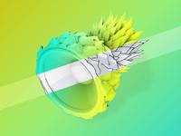 PINESPEAKER | 3D Model for Festival Poster