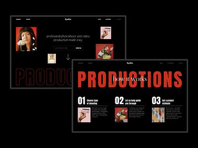 EyeEm Productions typogaphy layout uidesign web design