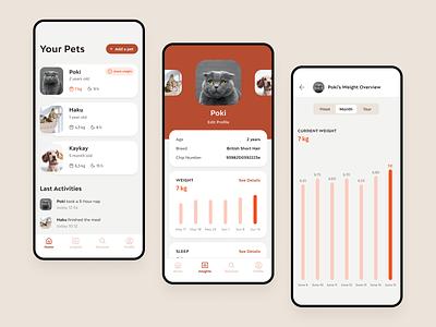 Feniska App pet products smart device branding app design ui design