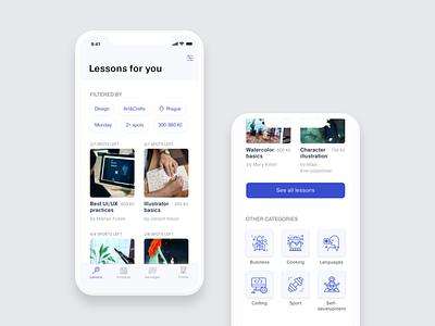 Mentoroom – Hello Dribble! ios ui ios 11 strv academy product design educational app ui design ux design