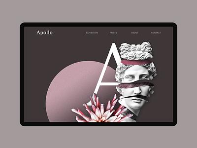 Apollo – art exhibition concept typography clear visual ui