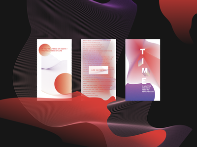 Experimenting: Life is Poetry design art wallpapers gradient shapes abstract design