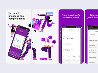 Nubank App Store Screenshots bank nubank screenshot app store