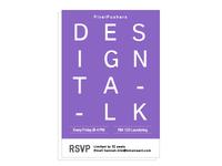 Design Talk Poster
