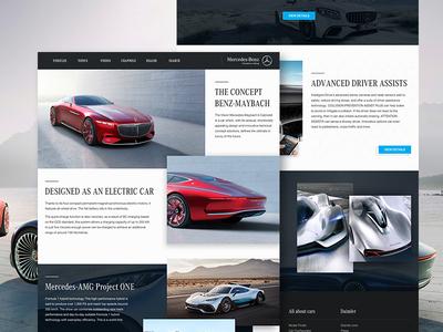 Mercedes-benz web redesign concept