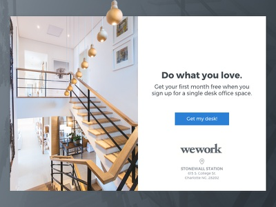 KIT | wework landing page concept split layout website landing page