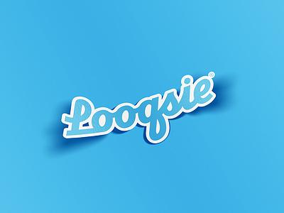 Looqsie Stickers stickers brush script logo branding lettering