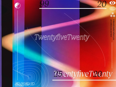 Cover Experimentation type vector noise gradient typography design