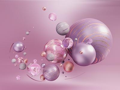 Sphere pink cinema4d render octane sphere