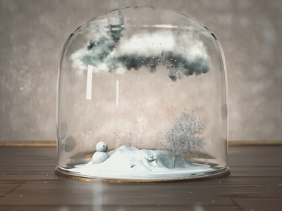 Snow redshift redshift3d motion infinity loop particles maxonc4d glow cinema4d render animation