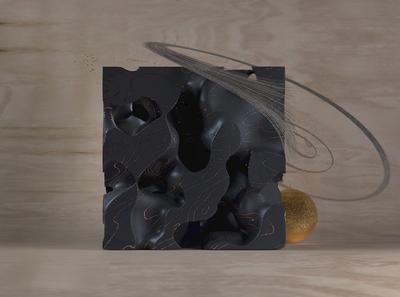 Cube line sphere cinema4d c4d render octane particles cube