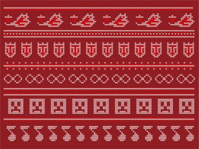 Happy Holidays 2019! flat design flat illustration autism minecraft new orleans tulane university holidays holiday card sweater design sweater knit christmas cards christmas card samrdbarnes
