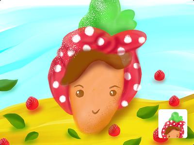 🍓🍓🍓 strawberry fruit character design illustration
