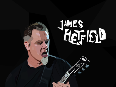 James Hetfield - Low poly illustration