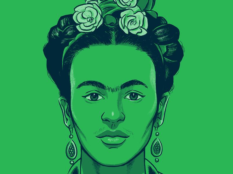 Frida Kahlo fridakahlo art history artist sketch digital woman drawing portrait illustration