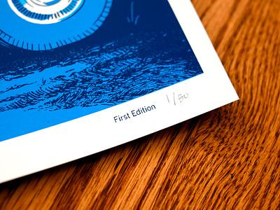 It Follows type design cans car blue film poster horror art horror drawing movie poster illustration screenprint