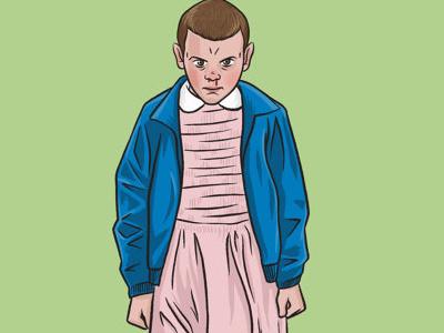 Eleven - Stranger Things barb dustin sci fi horror 80s drawing digital art illustration eleven netflix stranger things