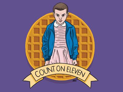 Count on Eleven - Stranger Things Season 2 80s sci fi tv show netflix apparel digital illustration banner eggos el eleven stranger things